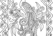 Colouring printables / by Crissy Hughes
