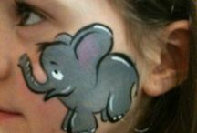 face painting dieren