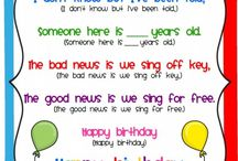 Birthdays in classroom