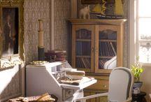 Bibliothèques & Bureaux / Intérieurs - meubles et accessoires miniatures pour maisons de poupées au 1/12ème