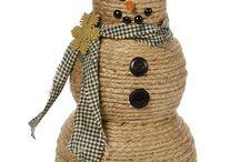 Χιονανθρωπος απο καλτσα