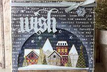 tim holtz snow glibes houses