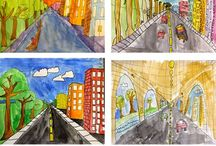 one-point perspective: art lessons for elementary school