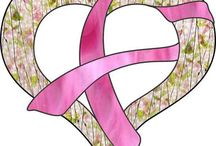 Cancer charity pattern / Heart with pink ribbon