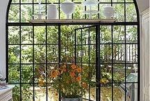 Black steel frame windows and doors
