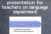 Speech and Language resources for teachers