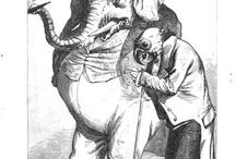 mens figuur met dierenkop