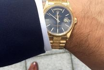Gold Mining / As if you needed any further convincing to purchase a gold watch., right? Be bold. Be daring. Take a look at how people are putting their twist on the classic timepiece.