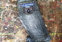 Army of Denim patchwork jeans / Italian brand selling Original Levi's jeans enriched with military patchwork. Every single piece is unique, if you want more info you can get us on whatsapp: +39 348 9004410 or on www.instagram.com/armyofdenim armyofdenim@yahoo.com / by Cristiano Papini