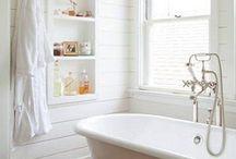 Bathroom Inspiration / Bathroom Home Decor Inspiration - white and neutral decor - modern coastal farmhouse decor - rustic decor