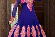 Esha Deol Anarkali design dress / Royal Blue Georgette Antalkali Suit with Pure Chiffon Dupatta Having  transferable full sleeves having a amazing embroidry work on the york   & the sleeves & bottom is decorated with heavy embroidry design.   To buy this collection contact us on  : Our website : http://highlifefashion.com/ For retail purchase What's App : 9594002709 / 9930928622 / 9821925564 for bulk purchase email us on : info@highlifefashion.com