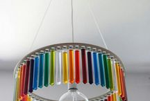 Chandeliers & Shades with Test Tubes / A beautiful collection of wonderful ideas for using chemistry inspired glassware for chandeliers and lamp shades.   See our full range here https://www.theconsumablescompany.com/product-category/glass-products/