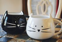 Cat Mug & Cat Teapot set