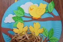 kaģıt tabakta kuş yapımı
