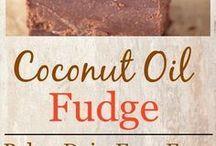 Coconut oil fudged.