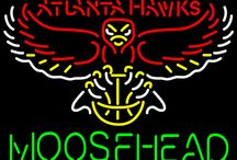Moosehead with NBA Neon Signs