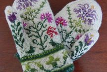 Варежки, перчатки & митенки - жаккард