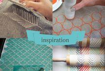 Tissus, motifs et tampons