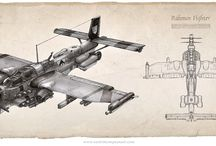 Pulp Inspiration / Cool dieselpunk-style images for Donner Grimm inspiration.
