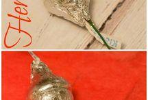valentine's hershey kiss roses