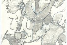 my art / old and new sketches and pages of my new comic and more