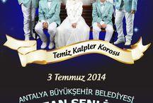 Tertemiz Antalya B.şehir Beld. Ramazan Şenlikleri Programında / Asfa Temiz Kalpler Korosu 3 Temmuz'da Antalya Büyükşehir Beld. Ramazan Şenlikleri Progr.da eserlerini seslendirecek