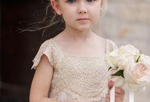 Flower girl and bearer ring