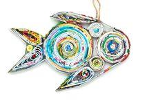 Handmade Holiday / Handmade holiday ornaments from Acacia Creations.  And fair trade, of course!