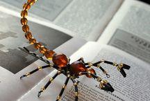 Бисер: пауки, скорпионы, мухи, стрекозы