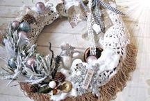 Hand made- wreath / zajmuję się czasami czymś innym,to moja odskocznia od pracy
