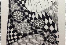 Zentangle & ZIA {my creations}