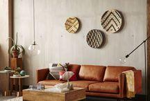 leather living sofa