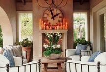 Fireplace ideas / fireplace ideas. fireplace inspiration. brick fireplace. stone fireplace. fireplace mantel.