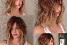 Balayage - Brown, blonde and caramel