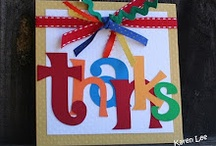 Card ideas - Thank you / by Deanne Jacobs