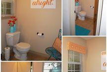 Orange bathroom accessories