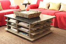 Do-It-Yourself projects for your home: Wood Pallets  / From chic and elegant to country rustic, wooden pallets can add fun and useful accents to your room decor. These often discarded pieces can easily be attained. As they say, one person's trash is another person's treasure!