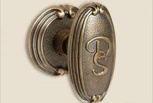 monogrammed door knobs / beautiful monogrammed door knobs with custom monogram letters - handcrafted by the master artisans of Baltica Hardware - stunning custom door knobs - www.balticacustomhardware.com