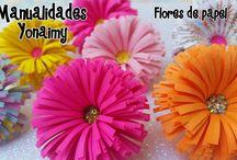 FORMA DE PALMERITA .- PAPER FLOWERS