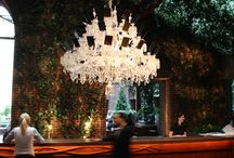 Chandelier and lamps