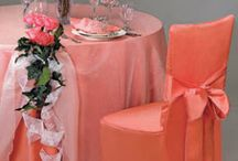 Sheer and Lace Fabric Tablecloths / When you want fancy but need to let the colors underneath to show through. These Sheer and Lace fabrics are great for layering.
