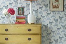 Wallpaper / by Vanessa Francis Interior Design