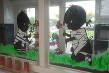 raam beschilderen