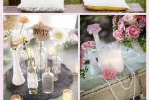 Mariage couleurs pastels / Mariage décoration couleurs pastels