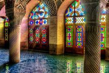 // Glass Mosaic Arabesque Interior