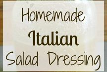 Recipes: Salad Dressings, sauces and oils