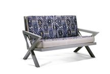 Winslow loveseat made by Carbon Footprint / Custom designed chair.