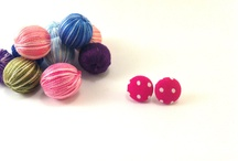 fabric covered buttons earrings