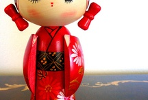 kokeshi et matriochka / by LiliRock