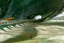 concept art _ s-f environments